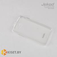 Силиконовый чехол Jekod с защитной пленкой для HTC Desire 316/516, белый