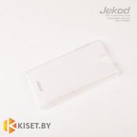Силиконовый чехол Jekod с защитной пленкой для HTC Desire 610, белый