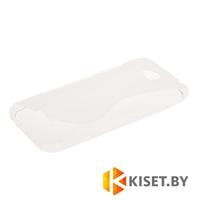 Силиконовый чехол для HTC Desire 616, прозрачный с волной