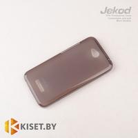 Силиконовый чехол Jekod с защитной пленкой для HTC Desire 616, черный