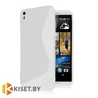 Силиконовый чехол матовый для HTC Desire 816, прозрачный