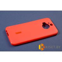 Силиконовый чехол Cherry с защитной пленкой для HTC One M8, красный