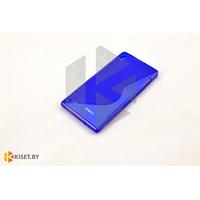 Силиконовый чехол Experts Huawei Ascend P6, синий с волной