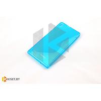 Силиконовый чехол Experts Huawei Ascend P6, бирюзовый с волной