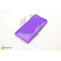 Силиконовый чехол Experts Huawei Ascend P6, фиолетовый с волной