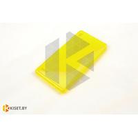 Силиконовый чехол Experts Huawei Ascend P6, желтый с волной