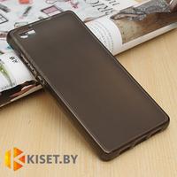 Силиконовый чехол матовый для Huawei Ascend P8, черный