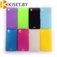 Силиконовый чехол KST MC для Huawei Ascend P8 розовый матовый