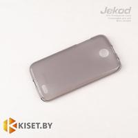 Силиконовый чехол Jekod с защитной пленкой для Lenovo A516, черный