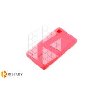 Силиконовый чехол Cherry с защитной пленкой для Lenovo P780, розовый