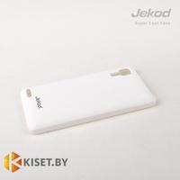 Пластиковый бампер Jekod и защитная пленка для Lenovo P780, белый
