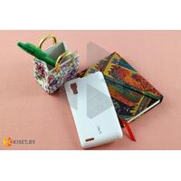 Силиконовый чехол Cherry с защитной пленкой для Lenovo P780, белый