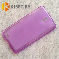 Силиконовый чехол матовый для Lenovo S60, фиолетовый