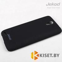 Пластиковый бампер Jekod и защитная пленка для Lenovo S820, черный