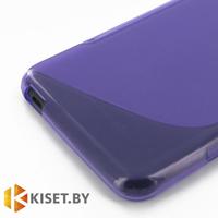 Силиконовый чехол для Lenovo P780, фиолетовый с волной