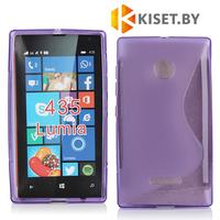 Силиконовый чехол для Microsoft Lumia 435/532, фиолетовый
