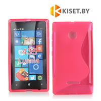 Силиконовый чехол для Microsoft Lumia 435/532, розовый