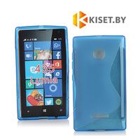 Силиконовый чехол для Microsoft Lumia 435/532, синий