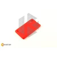 Силиконовый чехол Cherry с защитной пленкой для Microsoft Lumia 435/532, красный