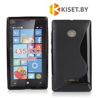 Силиконовый чехол для Microsoft Lumia 435/532, черный