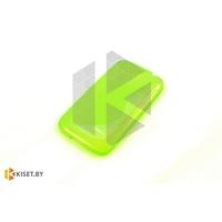 Силиконовый чехол для Microsoft Lumia 435, зелёный с волной