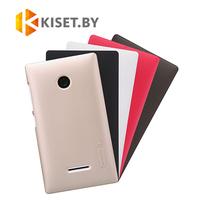 Пластиковый бампер Nillkin и защитная пленка для Microsoft Lumia 435/532, золотой