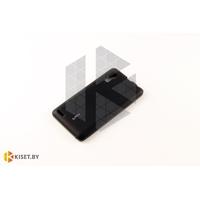 Силиконовый чехол Cherry с защитной пленкой для Microsoft Lumia 640, черный
