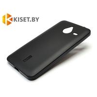 Силиконовый чехол Cherry с защитной пленкой для Microsoft Lumia 640 XL, черный