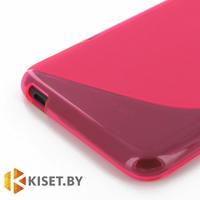 Силиконовый чехол для Nokia X2, розовый с волной