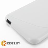Силиконовый чехол для Nokia X2, белый с волной