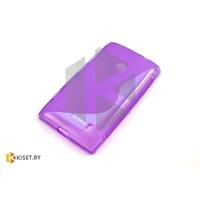 Силиконовый чехол для Nokia X2, фиолетовый с волной