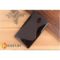 Силиконовый чехол для Nokia X2, черный с волной