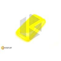 Силиконовый чехол для Nokia X2, желтый с волной