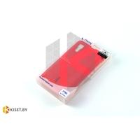 Силиконовый чехол Cherry с защитной пленкой для Samsung Galaxy Alpha (G850F), малиновый