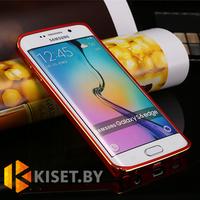 Металлический бампер для Samsung Galaxy S6 Edge (G925), красный