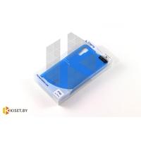 Силиконовый чехол Cherry с защитной пленкой для Samsung Galaxy Alpha (G850F), синий