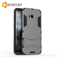 Гибридный противоударный чехол Hard Cover для Samsung Galaxy S8 (G950), серый