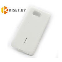 Силиконовый чехол Cherry с защитной пленкой для Samsung Galaxy Alpha (G850F), белый