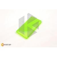 Силиконовый чехол для Samsung Galaxy J1 (J100H), зеленый с волной