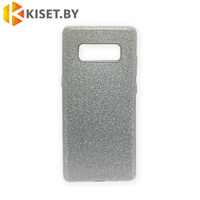 Силиконовый чехол Crystal Shine для Samsung Galaxy Note 8, серебристый