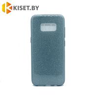 Силиконовый чехол Crystal Shine для Samsung Galaxy S8 графитовый (G950)