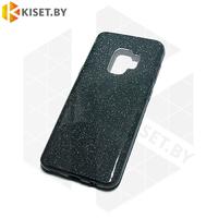 Силиконовый чехол Crystal Shine для Samsung Galaxy S9 (G960) графитовый