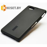 Силиконовый чехол Cherry с защитной пленкой для Sony Xperia Z1 Compact, черный