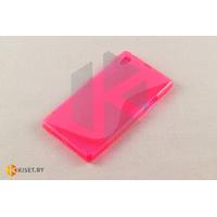 Силиконовый чехол для Sony Xperia Z1, розовый