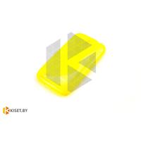 Силиконовый чехол для Sony Xperia Z3 Compact, желтый с волной