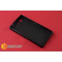 Силиконовый чехол Cherry с защитной пленкой для Sony Xperia Z3 Compact, черный