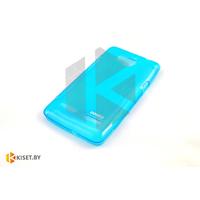 Силиконовый чехол для Sony Xperia Z3, бирюзовый с волной