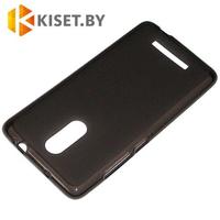Силиконовый чехол матовый для Xiaomi Redmi Note 3, черный