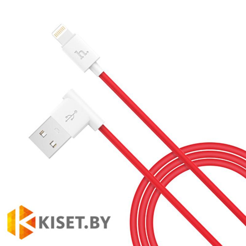 Кабель HOCO L Shape Lightning UPL11 для зарядки и синхронизации, красный