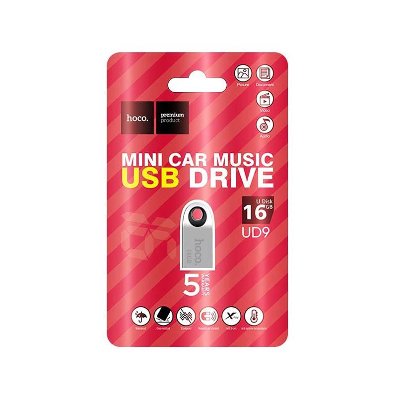 Флешка USB2.0 Flash HOCO UD9 16GB серый
